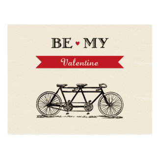Bicyclette tandem - soyez ma carte de Valentine Carte Postale