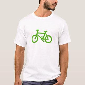 Bicyclette verte d'Eco T-shirt