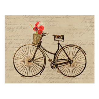 Bicyclette vintage carte postale
