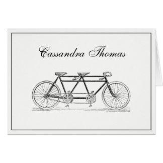 Bicyclette vintage construite deux du cadre H Cartes De Vœux