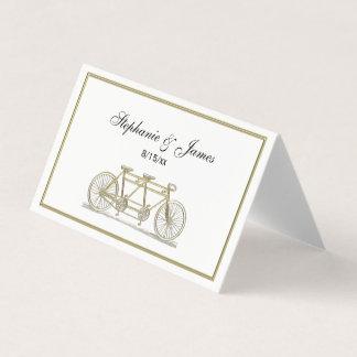 Bicyclette vintage construite pour deux/or tandem carte de placement