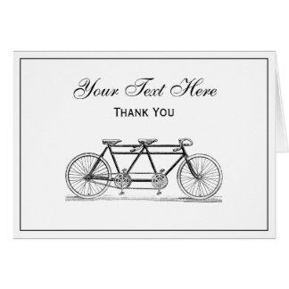 Bicyclette vintage construite pour deux/vélo cartes