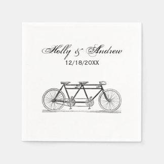 Bicyclette vintage construite pour deux/vélo serviettes jetables