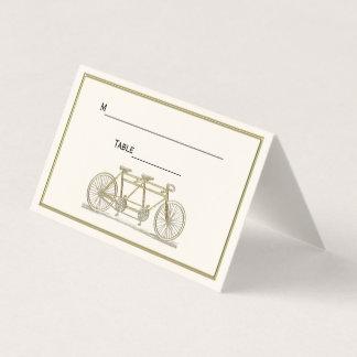 Bicyclette vintage construite pour l'ivoire d'or carte de placement