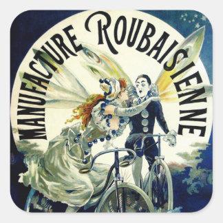 Bicyclettes de Roubaisienne de fabrication Sticker Carré