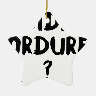 BIDE ORDURE ? - Jeux de Mots - Francois Ville Ornement Étoile En Céramique