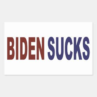 Biden suce sticker rectangulaire