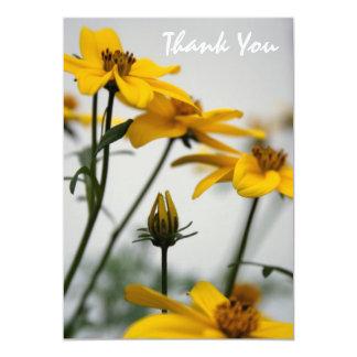 Bidens jaune - carte de remerciements - invitations personnalisées