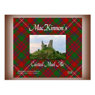 Bière anglaise de Caisteal Maol de MacKinnon Carte Postale
