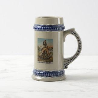 Bière blonde de Pfaff - 1800s vintages d'annonce Tasses