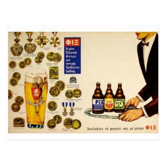 Bière blonde de vieille d'annonce difficulté de la carte postale