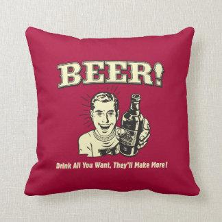 Bière : Buvez tous les veulent fera Oreiller