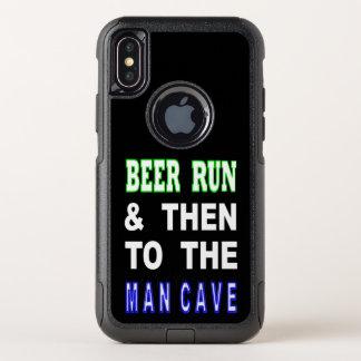Bière courue et puis à la caverne d'homme