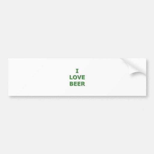 BIÈRE d'AMOUR - IRLANDAIS de jour de St Patricks Autocollant Pour Voiture