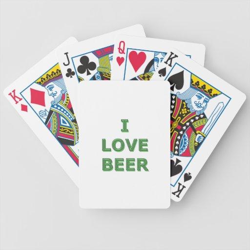 BIÈRE d'AMOUR - IRLANDAIS de jour de St Patricks Cartes De Poker