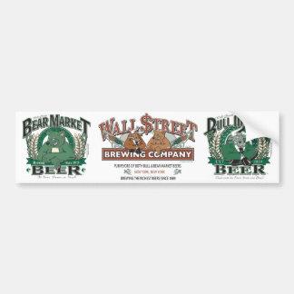 Bière de marché à la baisse - Wall Street brassant Autocollant Pour Voiture