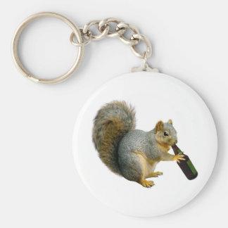 Bière d'écureuil porte-clé rond