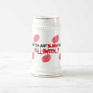 Bière drôle d'empreintes digitales de partie chope à bière