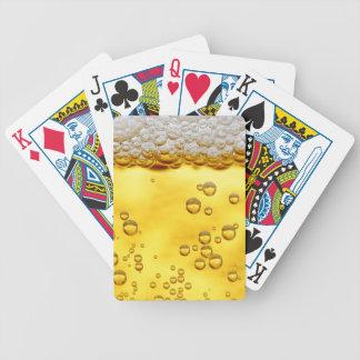 Bière faite sur commande drôle de cartes de jeu jeu de cartes