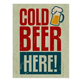Bière froide carte postale