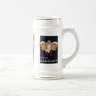 Biere Gangloff 2 tasses vintages d'annonce de