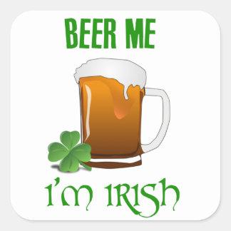 Bière je je suis irlandais sticker carré