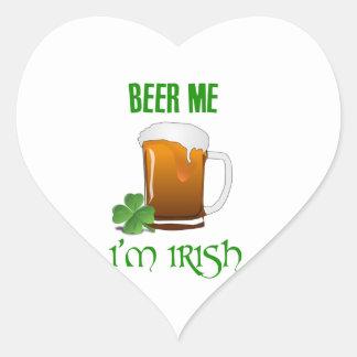 Bière je je suis irlandais sticker cœur