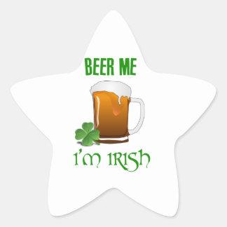 Bière je je suis irlandais sticker étoile