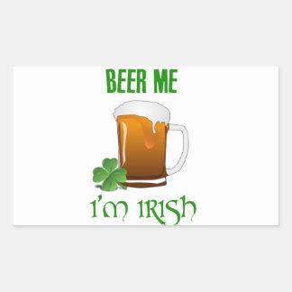 Bière je je suis irlandais sticker rectangulaire