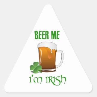 Bière je je suis irlandais sticker triangulaire