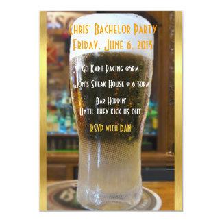 Bière j'enterrement de vie de jeune garçon carton d'invitation  12,7 cm x 17,78 cm
