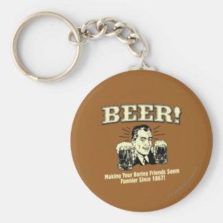 Bière : Les amis de aide semblent plus drôles Porte-clé Rond