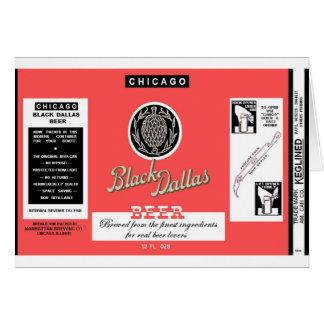 Bière noire Manhattan de Dallas brassant Chicago Carte De Vœux