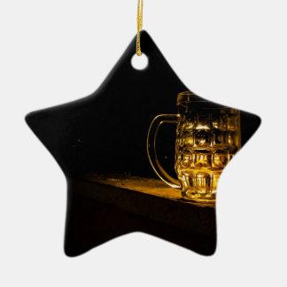 bière ornement étoile en céramique