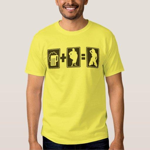 Bière plus gros Eq sexy T-shirts