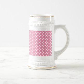 Bière Polka-Pointillée par rose Stein du jour de Chope À Bière