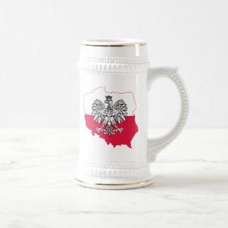 Bière polonaise Stein de drapeau de carte Chope À Bière
