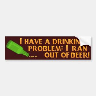 Bière potable drôle autocollant de voiture