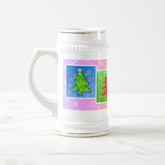 Bière Stein - arbres de Noël d'art de bruit Mug