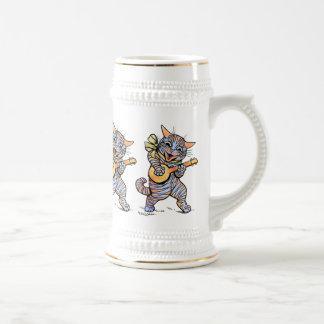 Bière Stein : Chats musicaux par Louis Wain Tasses À Café