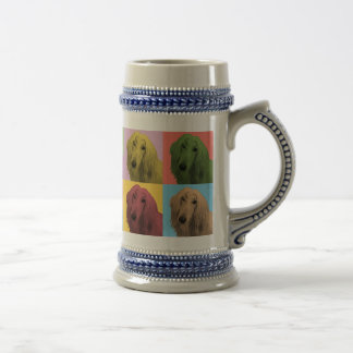 Bière Stein de Bruit-Art de lévrier afghan Mugs À Café
