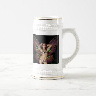 Bière Stein de papillon de Barbara Mackowiak Chope À Bière