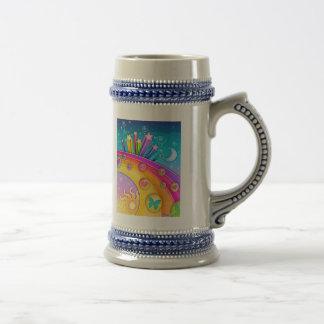 Bière, Stein - rétro ciel d'années '60 d'art de Chope À Bière