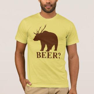 BIÈRE ? T-shirt de chasseur de cerfs communs de