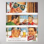 Bière vintage de Schlilz de ski de sports d'hiver Affiches