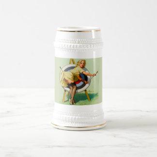 Bière vintage Stein de boudine Chope À Bière