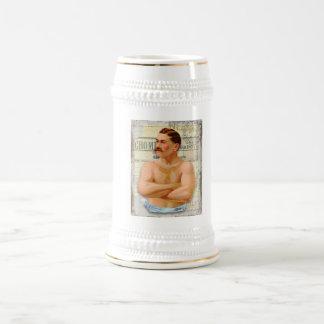 Bière vintage Stein de gros morceau de monsieur Chope À Bière
