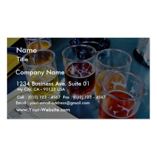 Bières en verre carte de visite standard