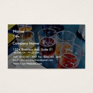 Bières en verre cartes de visite