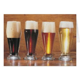 Bières et bières anglaises assorties carte de vœux